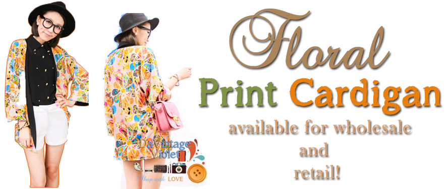 Printed Retro Cardigan